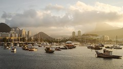Time-lapse of boats on Guanabara Bay in Rio. (ChrisDortch) Tags: yacht america attraction boat boats brasil brazil brazilian landmark city cityscape clear day coast de destination famous favorite travel geological feature gold guanabara harbor holiday international ipanema janeiro loaf marina mountain range natural ocean overseas vacation rio rock romantic scenery scenic skyline sugar sugarloaf sunset tourism tourist vacations warm water