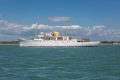 Super Yacht Shemara (John Ambler) Tags: sea john yacht super trials ambler porchester refit shemara vosper thornycroft shothampton
