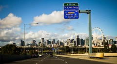 Enter Melbourne (Matthew Kenwrick) Tags: road street city urban highway day cloudy australia melbourne freeway cbd 32