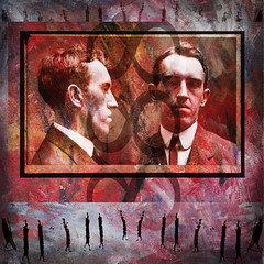 Small Heads no.195 (dek dav) Tags: music abstract man color art texture love broken colors rock collage digital photoshop vintage project dark poster photo lyrics mixed media warm paint artist arty song circus small journal band surreal lisa manipulation pop heads indie deviant 365 concept songs alternative acrylics germano excerpts