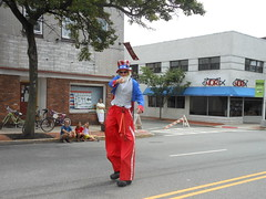 Uncle Sam On Stilts, 2014 Independence Day Parade, Montclair, NJ (smaginnis11565) Tags: newjersey essexcounty parade montclair independenceday stiltwalker unclesam 7414 bloomfieldavenue