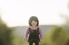 Playmobil photographers (Vernica Bautista) Tags: sunset nikon doll photographer playmobil 18105mm d7000