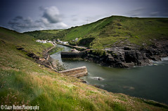 (Claire Hutton) Tags: uk longexposure england water wall lens landscape boats fishing rocks cornwall village harbour north rocky wideangle cliffs le csc boscastle ndfilter 10stop nd110 leefilters 10stopper sonynex5r samyang12mmf20
