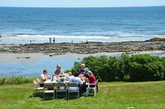 Lobster Lunch On The Ocean (Joe Shlabotnik) Tags: beach mom lunch dad rich maine violet phyllis everett 2014 verne higginsbeach afsdxvrzoomnikkor18105mmf3556ged july2014