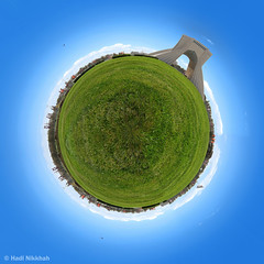 Polar Panorama Azadi Tower پلار پانوراما  برج آزادی (Hadi Nikkhah) Tags: panorama tower canon square iran polar tehran ایران azadi برج تهران پانوراما آزادی میدان چمن کانن کره پلار