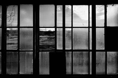 obscured by glass (fallsroad) Tags: windows blackandwhite bw building brick abandoned broken window glass architecture industrial decay panes pane powerhouse sandspringsoklahoma sandspringspowerplant nikond7000