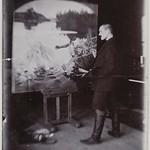 Axel Gallén painting The Aino Myth in Helsinki, ca.1890; print 1 of the photograph 2. thumbnail