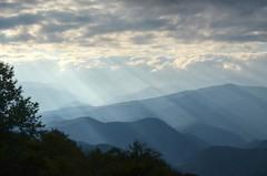 A lot of Beams (esywlkr) Tags: sky clouds landscape nc northcarolina smokies blueridgeparkway sunbeams wnc warrenreed