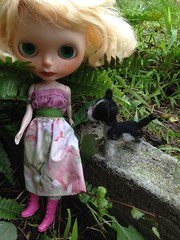 Singrid and her needle felted puppy Jack