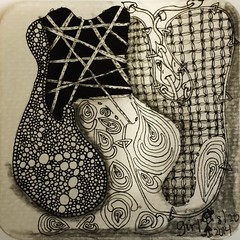 Zentangle/ Doodling (onenonly782) Tags: tile doodle tangle micronpens zentangle 8bgraphite