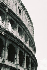 Colosseum #2 (Y-Control Photography) Tags: blackandwhite italy rome roma art film me monument 35mm photography ancient pentax kodak forum 200asa super colosseum agfa 400asa filmphotography ycontrolphotography