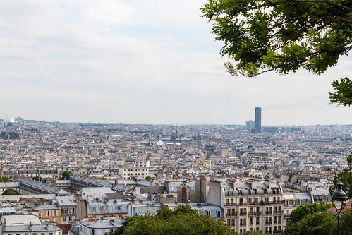 Vue sur Paris depuis le Sacré-Coeur