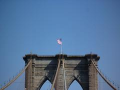201407124 New York City Brooklyn Bridge (taigatrommelchen) Tags: nyc newyorkcity bridge sky usa ny newyork brooklyn manhattan flag icon sight 20140729
