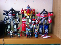 A part of my collection of robots (sebastien.robo) Tags: prime collection robots transformers optimus custom voltron nono nemesis goldorak grendizer mazinger
