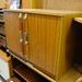 Low two door teak storage unit