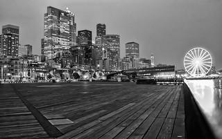 Seattle Pier, Ferris Wheel and Skyline
