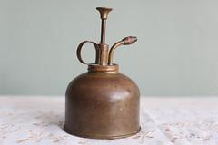 Brass Atomizer (Playin Jayne) Tags: water century vintage bottle spray retro hong kong pump brass mid atomizer