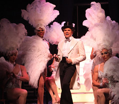 (L to R) Steven Schepis (Hanna), Thay Floyd (Mercedes), Brent Barrett (Georges) and Brian Steven Shaw (Angelique) in La Cage aux Folles, produced by Music Circus at the Wells Fargo Pavilion August 19-24, 2014. Photos by Charr Crail.