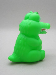 Cross-eyed Croc (The Moog Image Dump) Tags: boss green toy cross jaw teeth alligator vinyl crocodile croc eyed squeaker squeaky