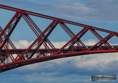 South Queensferry - 23 August 2014 (VF Photography 2013) Tags: road bridge reflection water skyline clouds marina boats harbour south rail trains structure forth queensferry