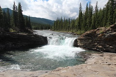 waterfalls at the Sheep river valley