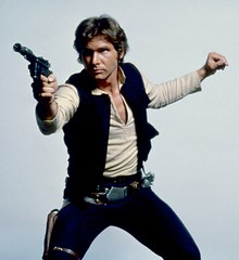 Publicity photo of Harrison Ford (Tom Simpson) Tags: film starwars harrisonford behindthescenes hansolo