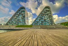 The Wave (mnielsen9000) Tags: architecture modern denmark harbourfront hdr apartmentbuilding vejle thewave bølgen henninglarsenarchitects samyang14
