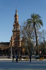 Place d'Espagne (Sville) (Drics67) Tags: spain espagne gothique sville plazadeespaa gonzlez andalousie mudjar anbal placedespagne norenaissance