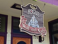 Wolf eel Cafe est. 1988 (Krista Roesinger) Tags: roadtrip oregoncoast rogue photobykristaroesinger wolfeelcafe