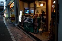 Wet NAKA-MEGURO (Kenny Banana) Tags: street people rain japan shop lumix tokyo cafe olympus meguro omd drizzle 14mm em5