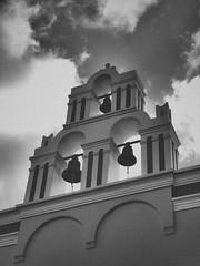 Church - Fira (davepickettphotographer) Tags: summer church bells island greek europe eu olympus greece fira thera 2014 olympuscamera