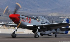 Reno Air Races 2014 - DSC_9326c (g_takeuchi) Tags: plane airplane fighter aircraft nevada airplanes airshow american planes mustang nationalchampionship reno rts p51 p51d 2014 therebel airraces northamerican stead airrace propblur 4484933 n151cf