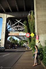Granville Island Entrance (PiscesDreamer) Tags: road street summer urban canada sign vancouver britishcolumbia entrance signage granvilleisland granvillebridge onelove vancity