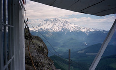 Mt Rainier from High Rock Lookout, Washington - 1990 (bcgreeneiv) Tags: tower film rock high lookout