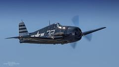 Grumman F6F-5 Hellcat (Hawg Wild Photography) Tags: green nikon fighter wwii terry warbird hellcat grumman everettwashington paulgallen f6f5 flyingheritagecollection d4s nikon600mmvr painefieldairportkpae pilotcarterteeters