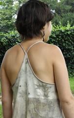 Robe tshirt ecoprint detail dos
