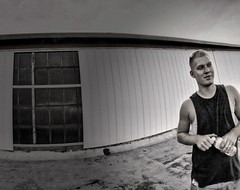 IMG_3884.JPG (Jamie Smed) Tags: snapseed boy window beautiful fun family buildings fisheye sun love roof cute jamiesmed rooftop 2014 people buddies rokinon guys vignette smile iphoneedit handyphoto rebel handsome app warehouse lens prime geotagged geotag manual software facebook summer cincinnati september fixed wide focus blackwhite bw blackandwhite ohio midwest canon eos dslr t1i photography industrial queencity