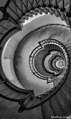 If I'm goin' back again (Kathryn Louise18) Tags: canon florida lighthouse bw blackandwhite stairs beach seashore roberthunterlyrics gratefuldeadlyrics spiral historic interior architecture staircase