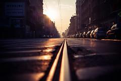 ghost town (ewitsoe) Tags: lowdof rail street city sunrsie autumn cityscape ewitsoe nikond80 35mm urban jezyce poznan poland