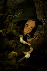 This is our night! Keep enjoying my fellow witches! (Cherryta) Tags: halloween icy doll blythe fashion takara dolls vintage ewtro witch wicked har pointed boots spells magic