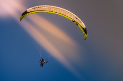 Sun Touched (Alfred Grupstra Photography (bussy until 30 octobe) Tags: sky bluesky paragliding sun mk macedonia krusevo