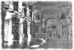 Enlightenment (nelhiebelv) Tags: admont monastery library austtria styria lightbeams