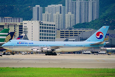 Korean Air Boeing 747-2B5B HL7463 (Manuel Negrerie) Tags: hl7463 boeing747 747200 jumbojet koreanair ke korea hongkong airport kaitak scenery livery kal spotting scheme aviation