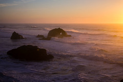 Seal Rocks at Sunset (San Francisco Gal) Tags: sealrocks pacificocean goldenhour landsend sutrobaths ocean water wave spume glow sunset sanfrancisco ngc