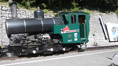 Brienz Rothorn Bahn, Switzerland - Locomotive No. 14 built 1996 departs Brienz Station with the 15.35 to the Summit on the 13th September 2016 (trained_4_life) Tags: brb brienzrothornbahn brienz switzerland rackrailway steamengine