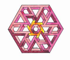 20150105 (regolo54) Tags: impossible isometric penrosetriangle triangle hexagon handmade oscarreutersvrd escher mathart regolo54 pencil