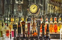 old bar (albyn.davis) Tags: colors bar glass bottles mirror reflections old clock light