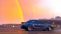 Y E L L O W B O W (AyZoR) Tags: fh3 t10 turn10 bmw bmw1seriesm 1m forzahorizon3 forzatography car pluie rain sunset couchdesoleil nightfall photomode videogame xboxone screenshot