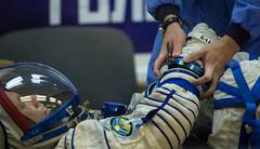 Expedition 49 Preflight (NHQ201610190041) (NASA HQ PHOTO) Tags: roscosmos expedition49 andreyborisenko building254 baikonur baikonurcosmodrome expedition49preflight kazakhstan kaz russiansokolsuit nasa joelkowsky