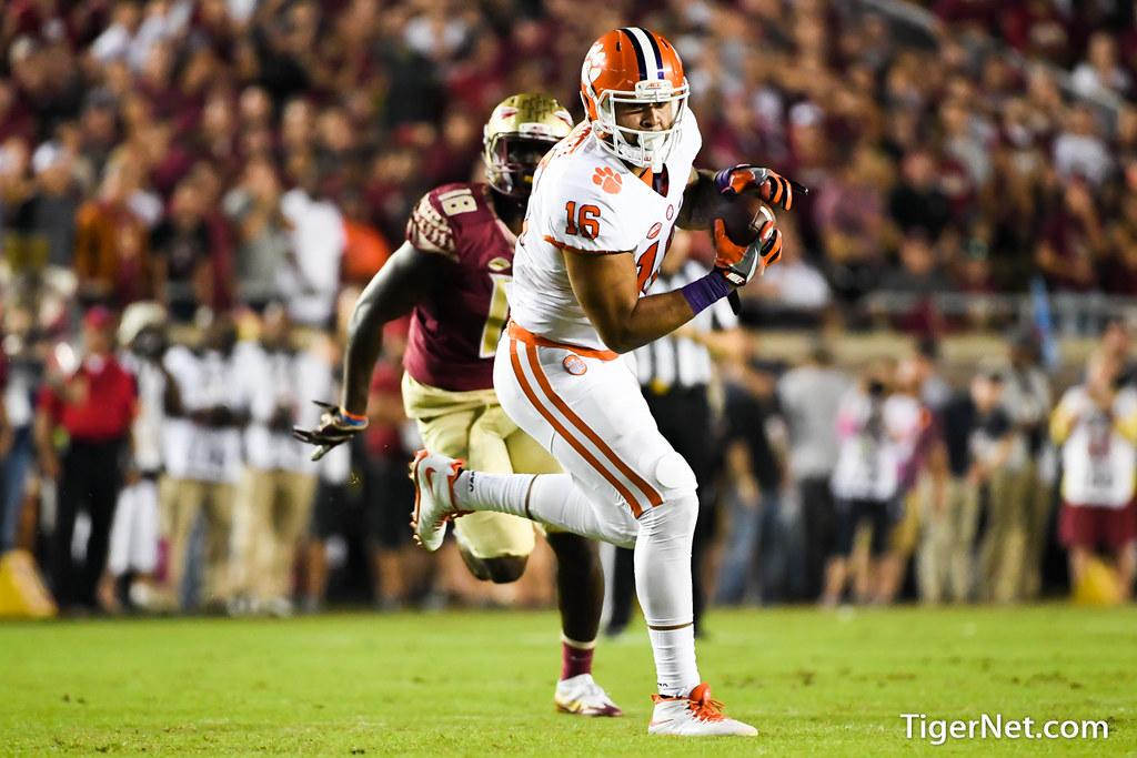 Clemson Photos: Jordan  Leggett, 2016, Football, Florida  State